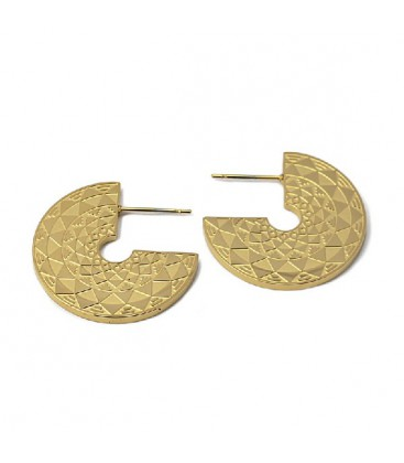 EARRING WITH LASER ENGRAVED DRAWS 25MM - APE989D