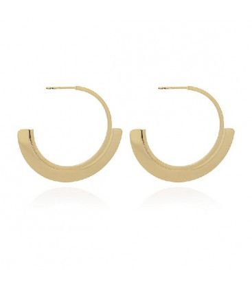 FLAT HOOP EARRING WITH A CIRCLE 45MM - BPE012D