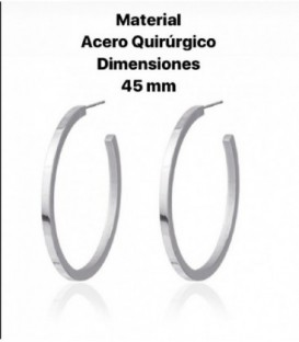 SQUARE SHAPE HOOP EARRING 45MM - BPE052PL