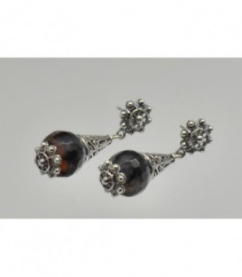 PENDIENTES CHARROS AGATA SPIDER LARGO 4CM - S1042AS