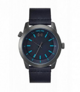 RELOJ ACERO IP GRIS CORREA MISSION MM - HC0102-57