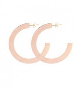FLAT HOOP EARRING 58MM ORO ROSA - APE886OR