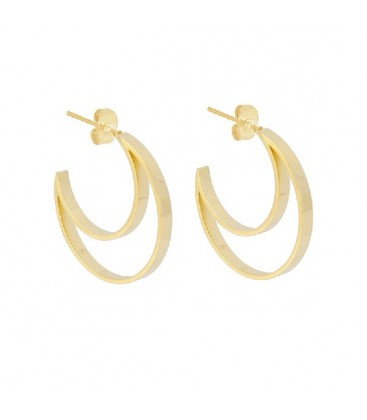 HOOP EARRING SHAPED MOON 30MM - APE844